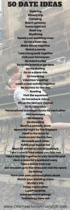 50 Date Ideas For Your Anniversary   Boyfriend