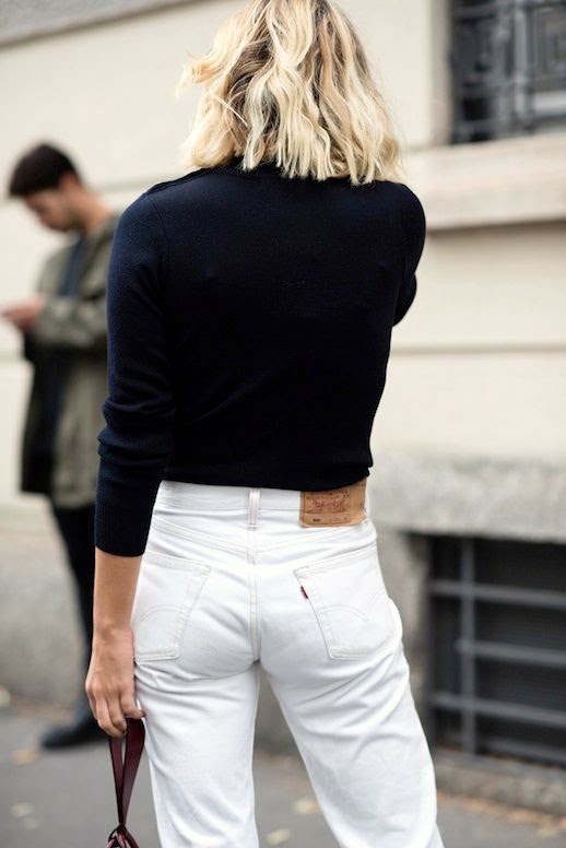 Le Fashion Blog Winter Street Style Black Sweater White Boyfriend Levis Jeans Via Adenorah
