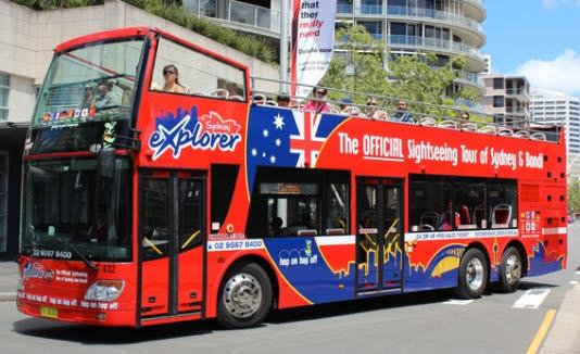 Kết quả hình ảnh cho Hop-On/Off Bus sydney