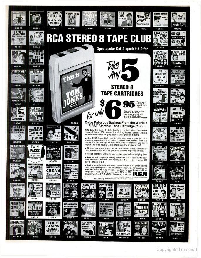 music club ad in Life Magazine, 1970