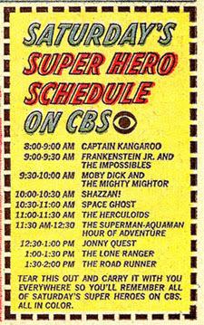 CBS '67 Saturday checklist