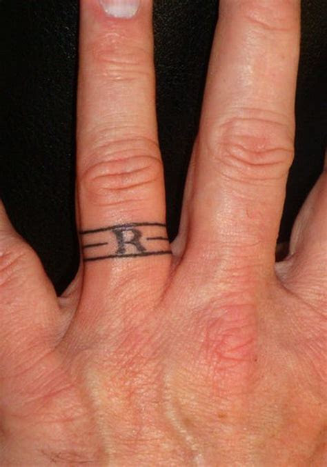 sweet meaningful wedding ring tattoos