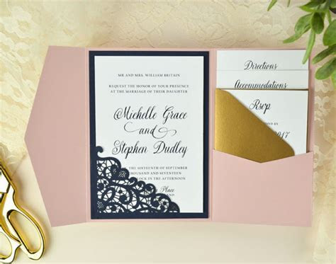 Cards & Pockets Design Idea Blog   DIY Wedding Invitation