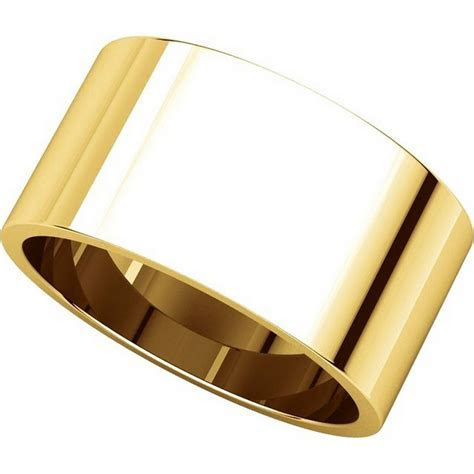 F33661 14K Yellow Gold 10mm Wide Wedding Band