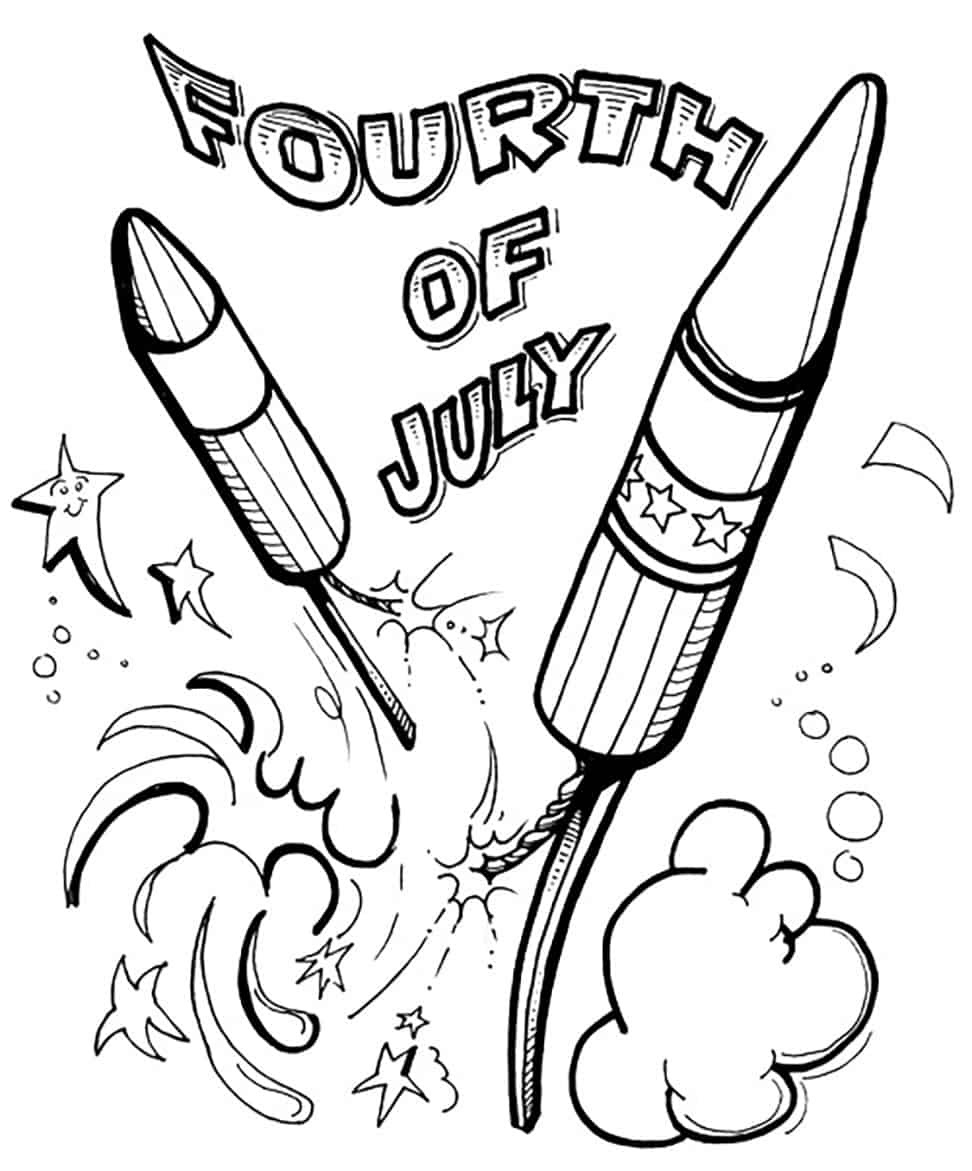 Free 4th of July Coloring Pages - Tuxedo Cats and Coffee