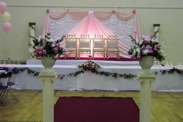 WEDDING MANDAPS BACKDROPS: PINK THEMED WEDDING BACKDROP
