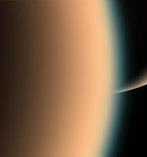 Saturno y Titán vistos por Cassini