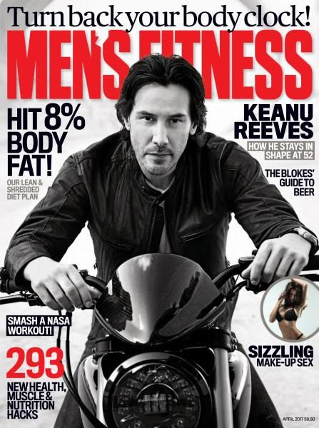 Keanu Reeves - Men's Fitness Magazine Cover [Australia] (April 2017)