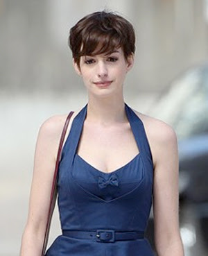 Anne Hathaway Pixie Haircutmakeup Beauty Blog