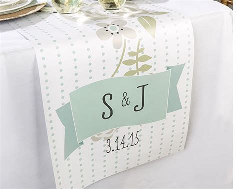 Personalized Rustic Wedding Table Runner