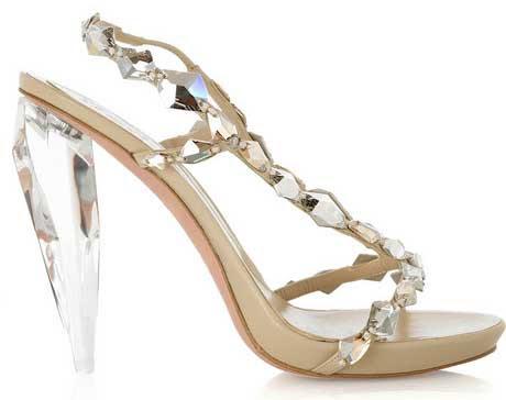 alexander mcqueen crystal s1 Alexander McQueen crystal embellished sandals with clear heels