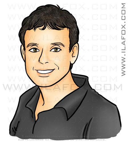 Desenho homem de cabelo castanho, marcello, by ila fox