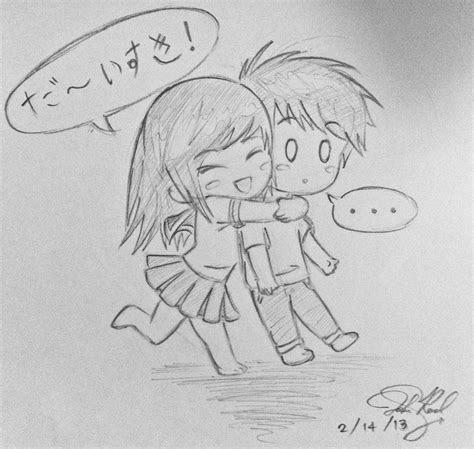 resultado de imagen  cute chibi couple hugging drawing