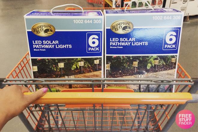 Hampton Bay Led Solar Pathway Lights 6 Pack Just 12 At Home Depot