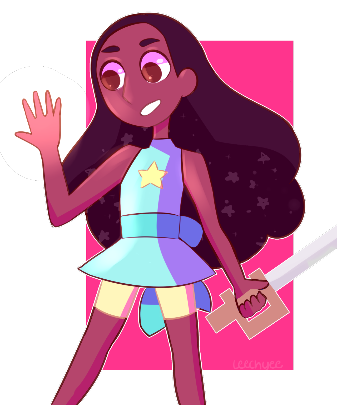 wouldnt connie be awesome in pearls outfit? (eye strain in second cause the 3D effects are fun)