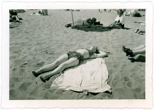 Girl sunning