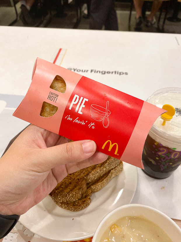 McDonald's Hong Kong: Black Sticky Rice Pie Review   Foodology