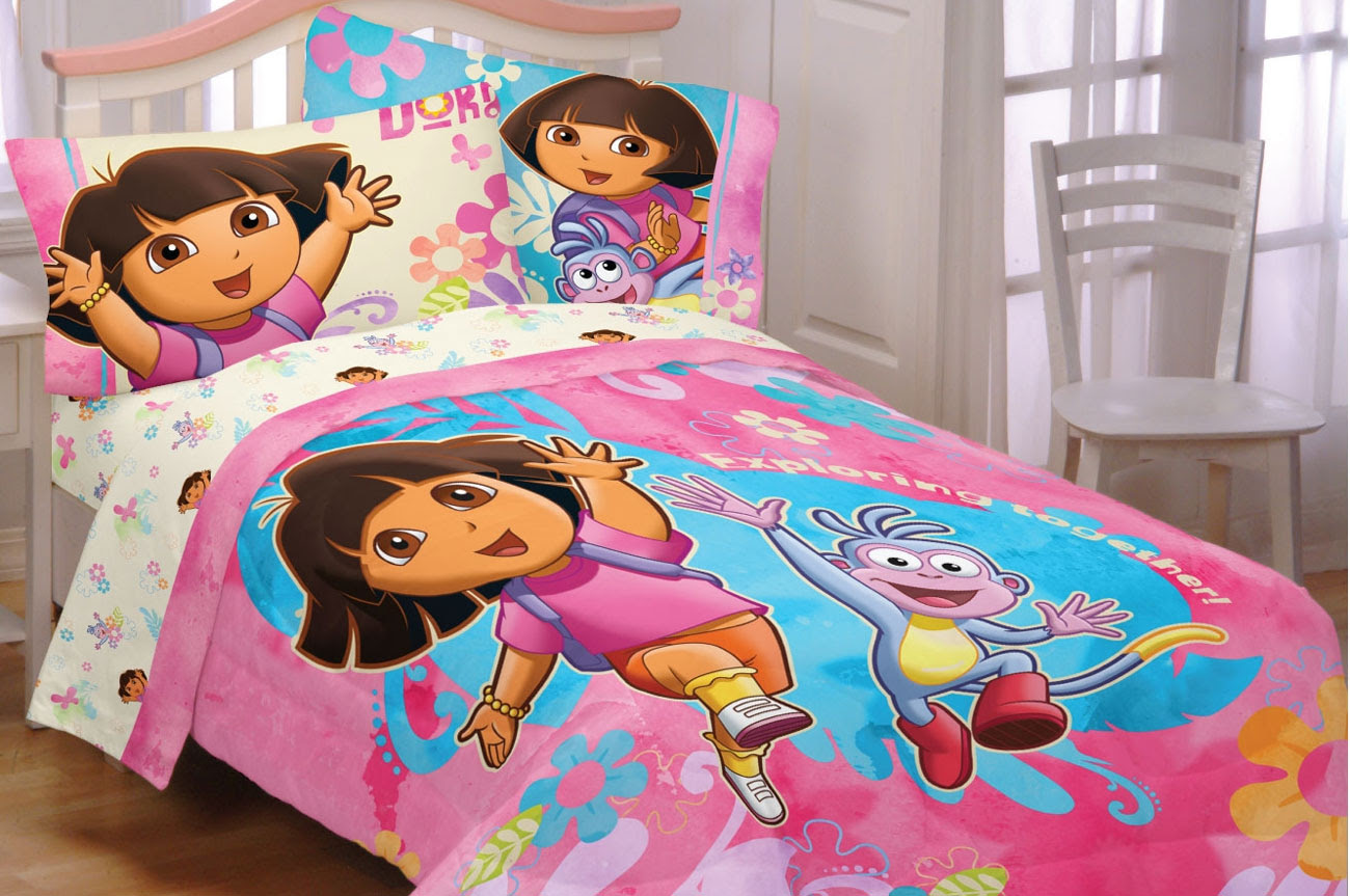 4pc Dora the Explorer Exploring Together Full Sheet Set