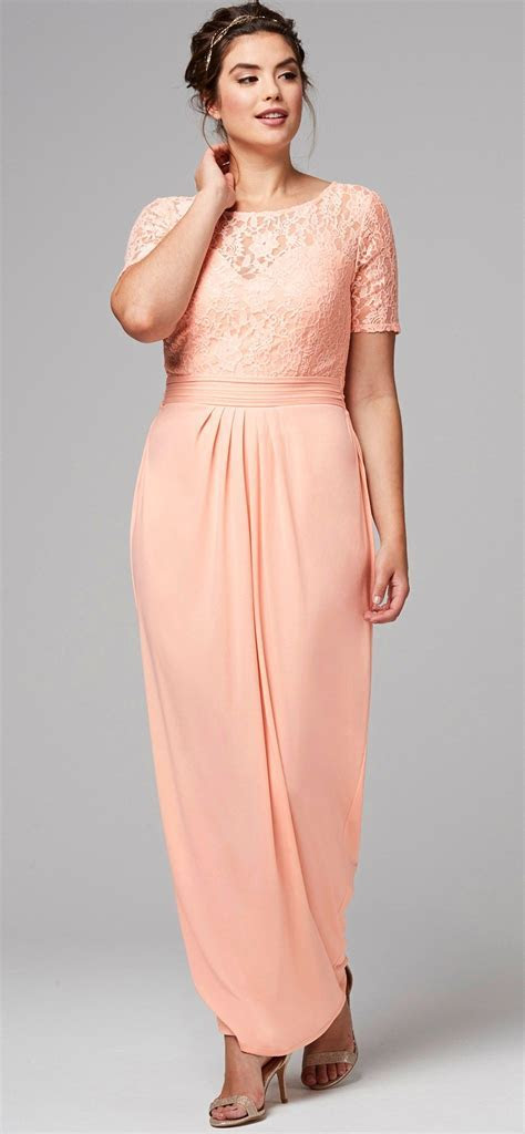 45 Plus Size Wedding Guest Dresses {with Sleeves   Wedding  </div><div class=