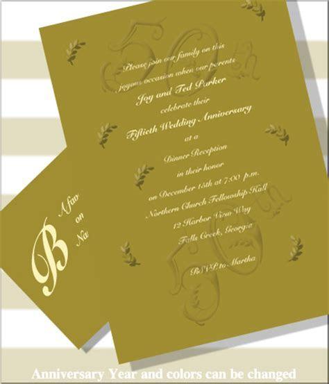 Wedding Anniversary Celebration Invitations (Item #BE1643R)
