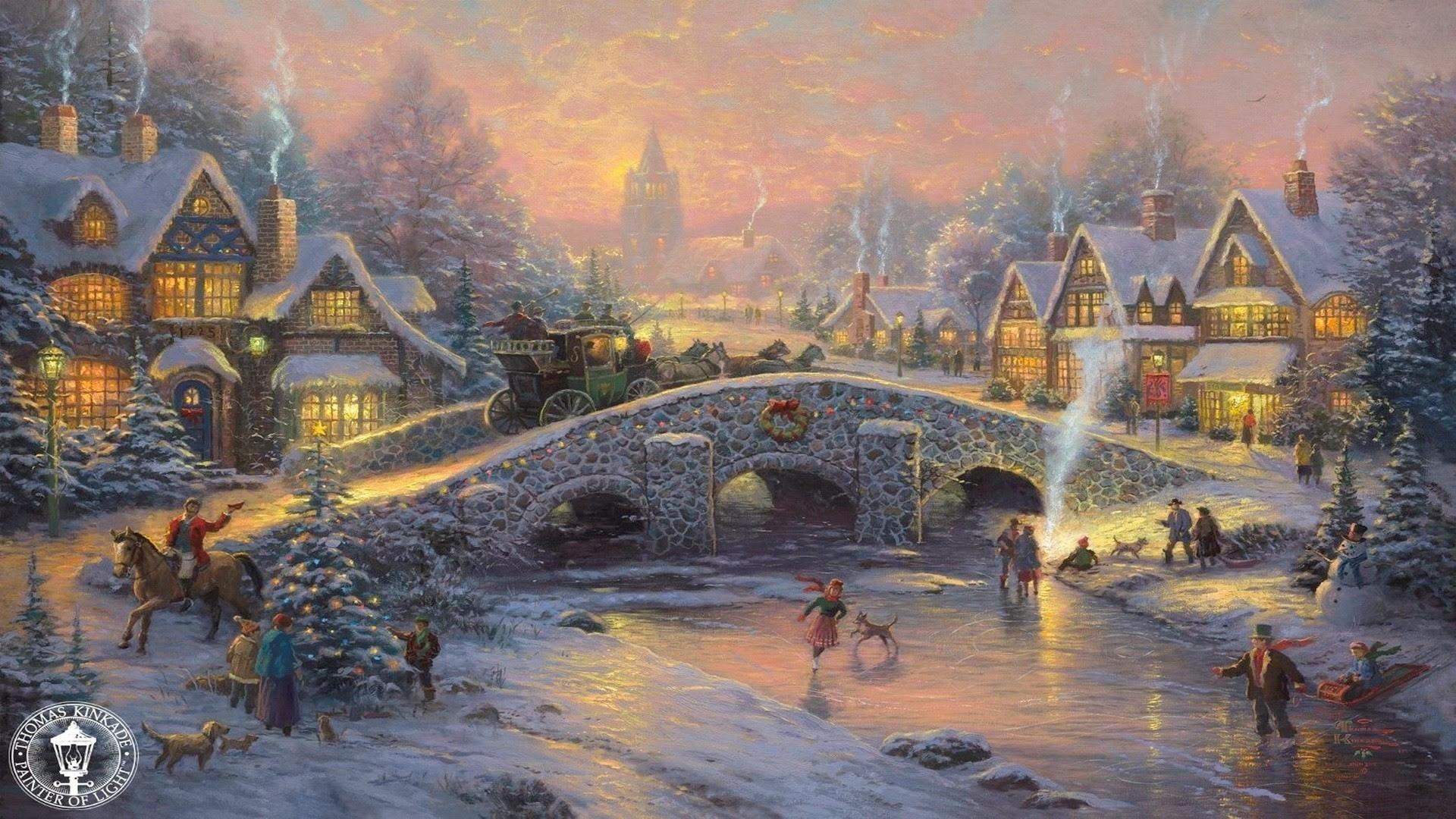 Thomas Kinkade Winter Wallpaper 58 Images