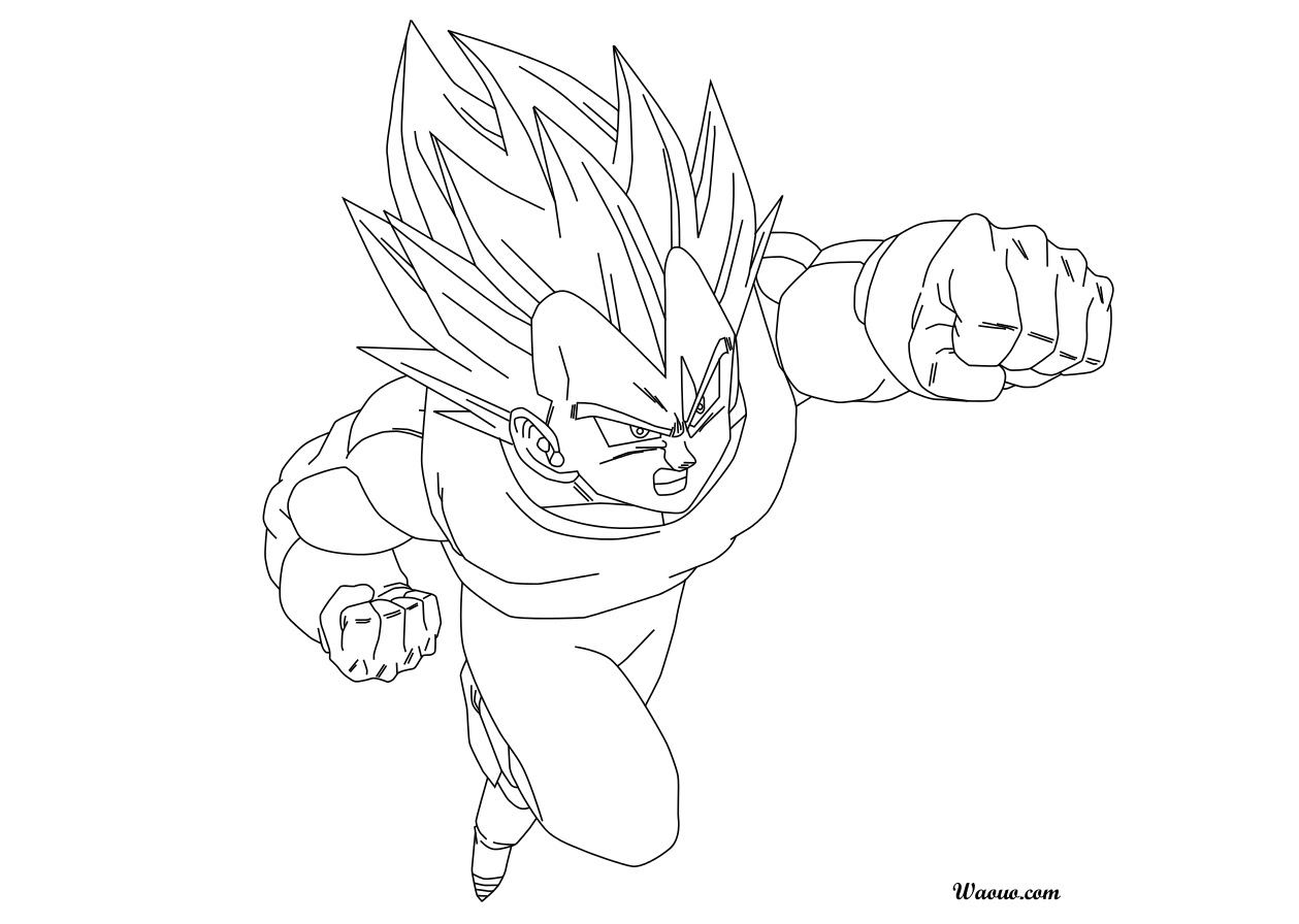 Unique Coloriage Vegeta Super Sayen 2 Haut Coloriage Hd Images Et