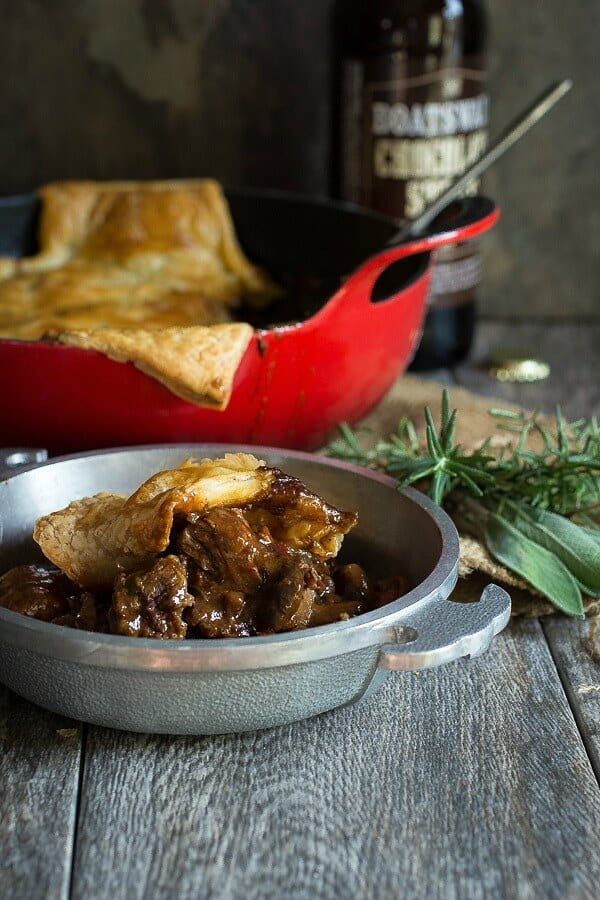 Rich Steak Ale Pie with Puff Pastry - Foodness Gracious