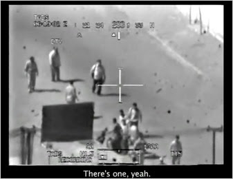 A screen grab from a video obtained by Wikileaks.