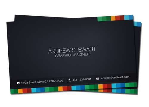 60 Absolutely Free Dark And Black Business Card Templates Ginva