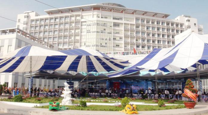 Bệnh viên đa khoa trung tâm An Giang lúc khánh thành. (Hình: báo Tuổi Trẻ)