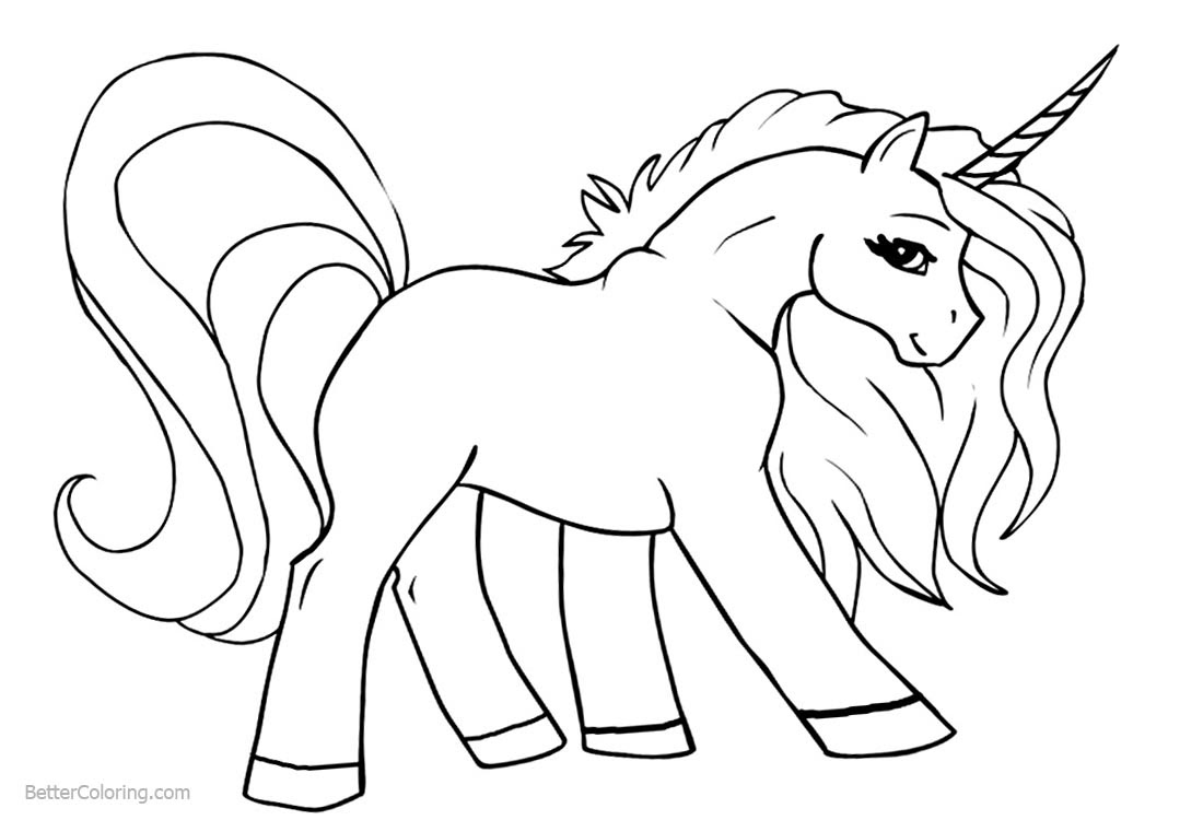 Unicorn Coloring Pages Line Art - Free Printable Coloring ...