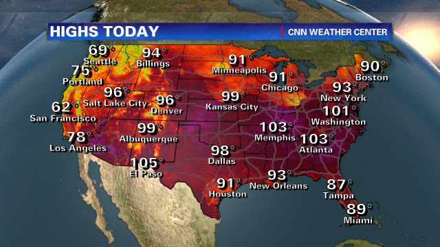 Temps soar across the U.S.