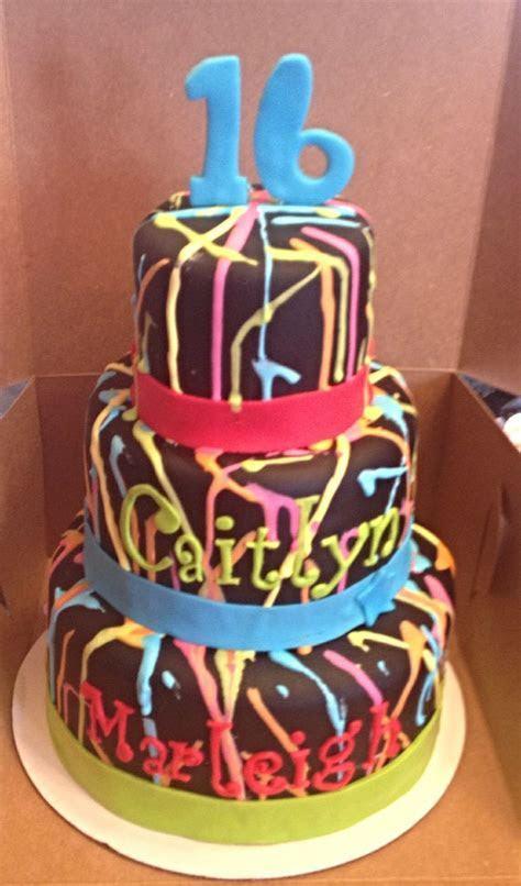 Best 25  Neon birthday cakes ideas on Pinterest   Neon