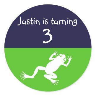 Frog Birthday Sticker sticker
