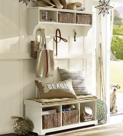Entryway Storage Cubby Bench & Shelf | Interior Decorating Tips