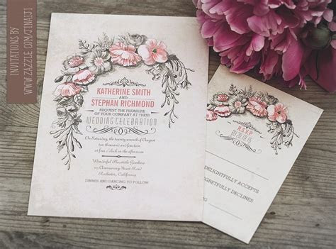 Vintage Wedding Invitation with Floral Wreath ? NEED