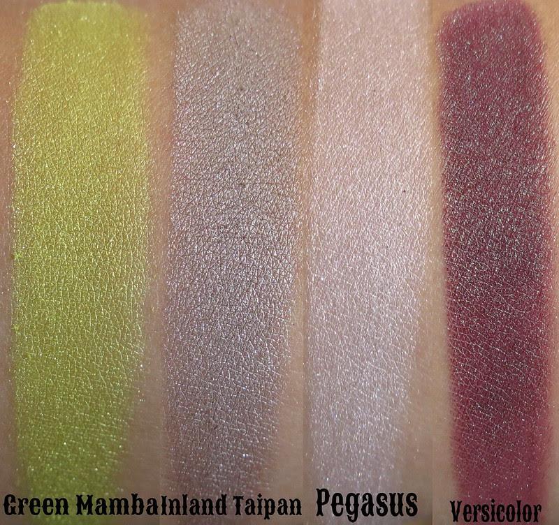 Venomous Cosmetics Green Mamba, Inland Taipan, Pegasus, Versicolor