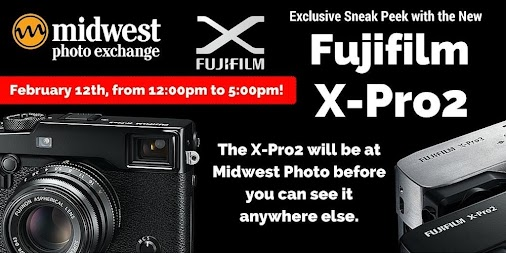Don't miss Fuji Film Cameras in store this Friday 12pm-5pm for the Exclusive Sneak Peak of the X-Pro2...