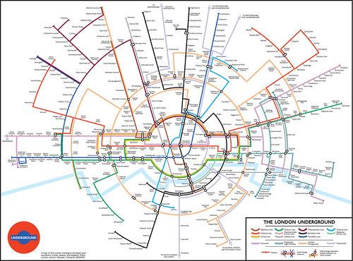 Circular Tube Map by Max Roberts