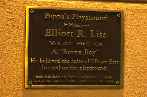 Playground Plaque, Children's Aid Society