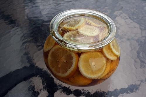 Start of the lemon & honey base