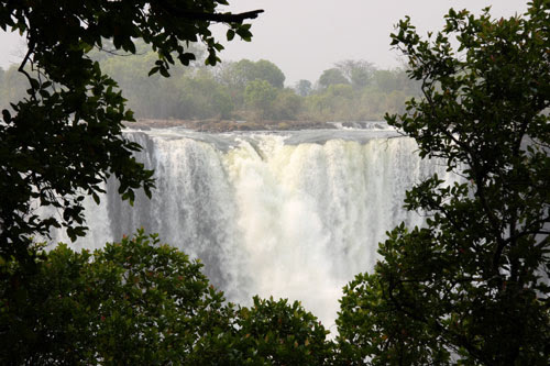 Face to face with the Victoria Falls