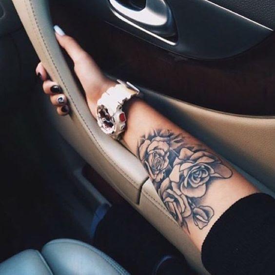 Black Roses Sleeve Tattoo