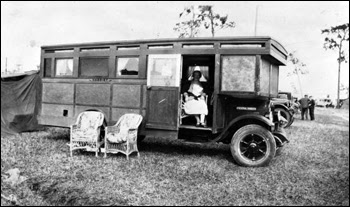 House car named Harriet at Tin Can Tourists convention: Arcadia (January 10, 1929)