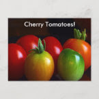 Cherry Tomatoes postcard