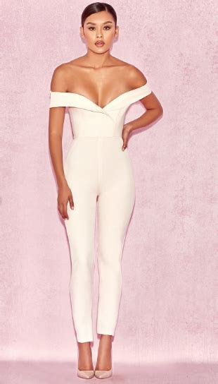 chic wedding jumpsuits  wear    white gown