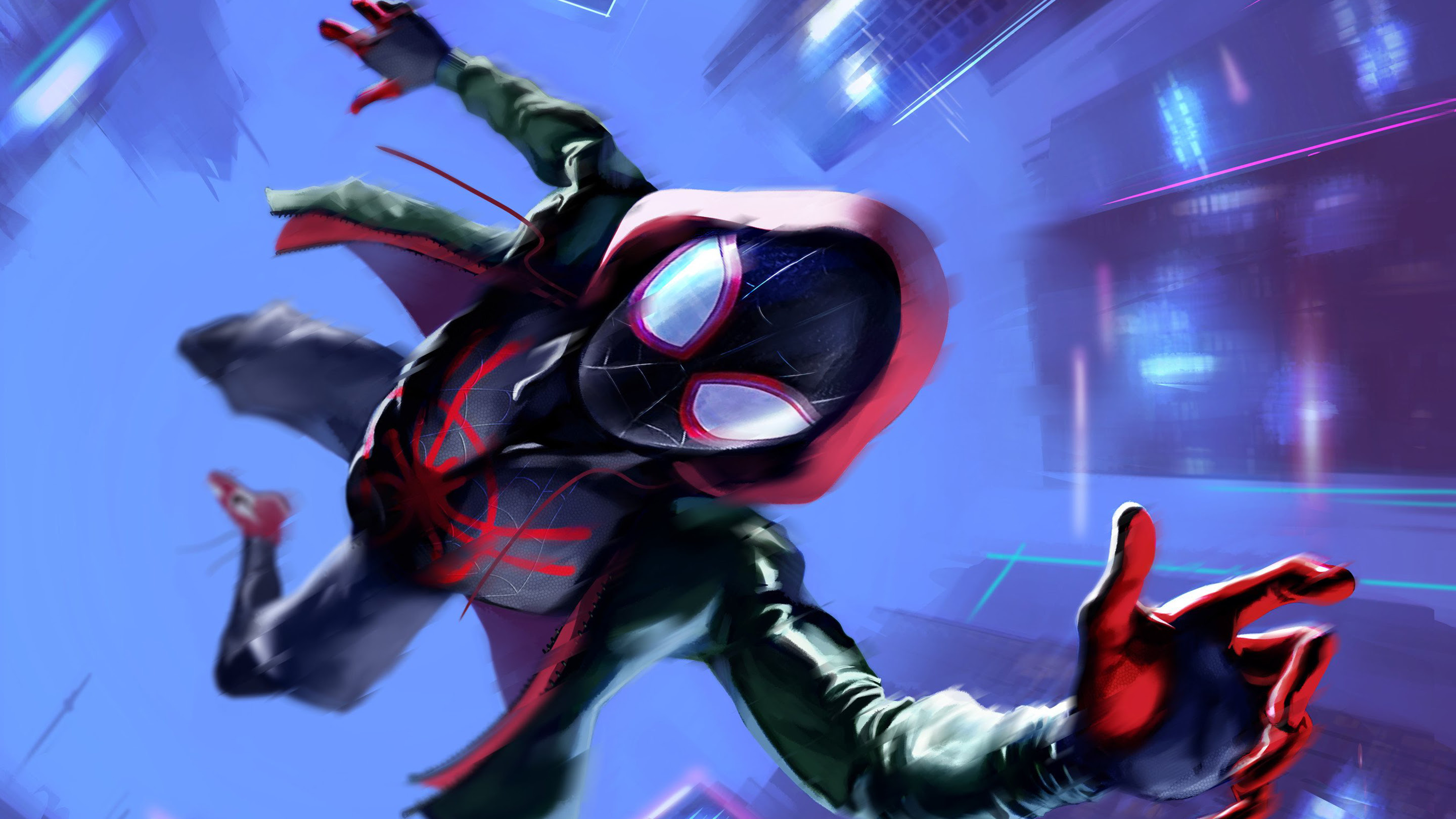 Miles Morales In Spider Man Into The Spider Verse Wallpapers Hd
