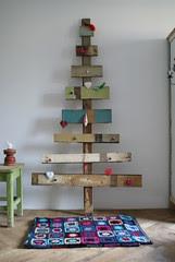 wood & wool x-mas tree