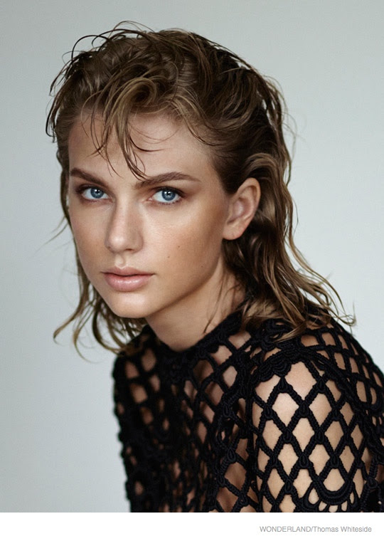 Taylor Swift Wears Bold Eyebrows in Wonderland Shoot by ...