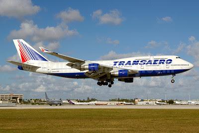 Transaero Airlines Boeing 747-412 EI-XLL (msn 28031) MIA (Luimer Cordero). Image: 908289.